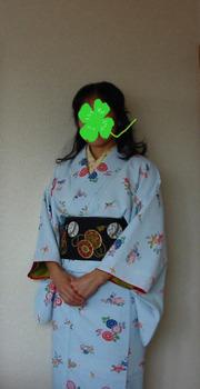 桜枝半襟+水色紅型+鼓半幅_マスク.JPG
