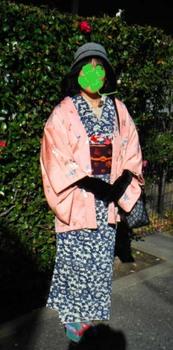 紺菊紅型+ピンク鳥羽織+春駒()mini.jpg