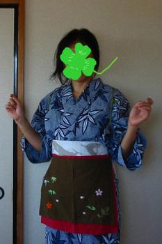 絞り浴衣+海半幅+短エプロン.JPG